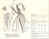 1960s Open Back Cocktail Dress Pattern - Vintage Austine La Mar R-179 - Bust 36 with Chiffon Train
