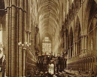 Westminster Abbey, London, England - Unused Vintage Postcard
