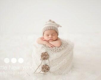 15%off SALE Newborn photo prop, newborn hat, newborn boy, newborn girl, knit newborn hat, newborn props,newborn knot elf hat, newborn prop