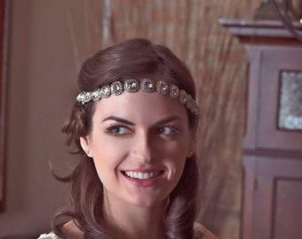 Rhinestone Headband,Bridal Headband,Wedding Headband,Bridal Hairband,Wedding Hairband,Downton Abbey Style,Diamante Hairband