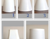 Custom chandelier shades where you pick your fabric