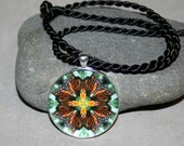 Monarch Butterfly Mandala Pendant Necklace Boho Sacred Geometry Hippie Kaleidoscope Unique Gift For Her Butterfly Lover  Timeless Treasure