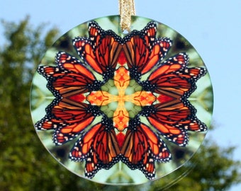 Monarch Butterfly Suncatcher Boho Chic Mandala New Age Sacred Geometry Hippie Kaleidoscope Mod Gypsy Unique Gift For Her Timeless Treasure