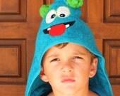 Monster hooded towel boy hooded towel girl hooded towel personalized towel hooded bath towel kids hooded towel child hooded towel