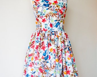 ON SALE Vintage inspired bridesmaid dress Spring Flowers- Last One
