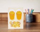 Cheers Beers Card Birthday Celebration Greetings Card