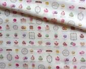 Japanese Fabric Cotton Yuwa - Mini Patisserie light yellowish - a yard