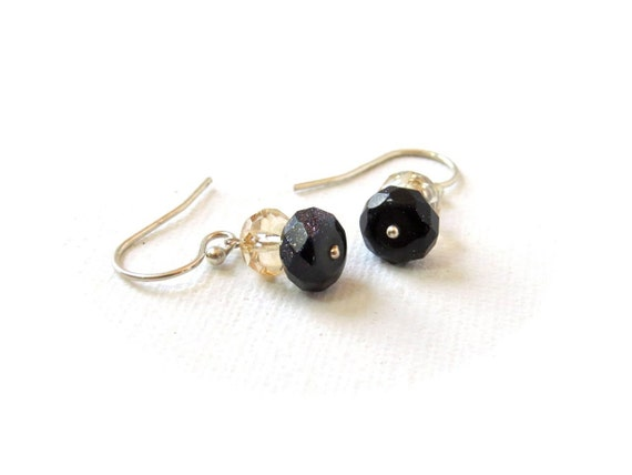 RESERVED FOR TERRI:  Day and Night Earrings