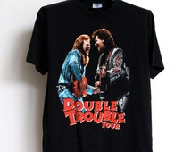Travis Tritt Marty Stuart Double Trouble Tour T Shirt Mens Large Unisex Womens Vintage Dates Concert