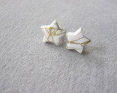 Gold Drizzle Star Stud Earrings - Choose 2 - Hypoallergenic Posts