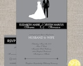 wedding invitation set -  bride and groom - diy printable files by YellowBrickStudio