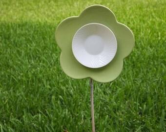 Glass Flower, Art Glass Flower Sculpture, Upcycled Art Glass, Recycled Art Glass, Garden Art, Flower Sculpture, Yard Art, Yard Ornament