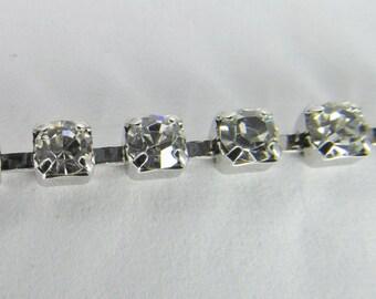 3mm Swarovski Crystal Rhinestone Silver Plated Cup Chain Ch231