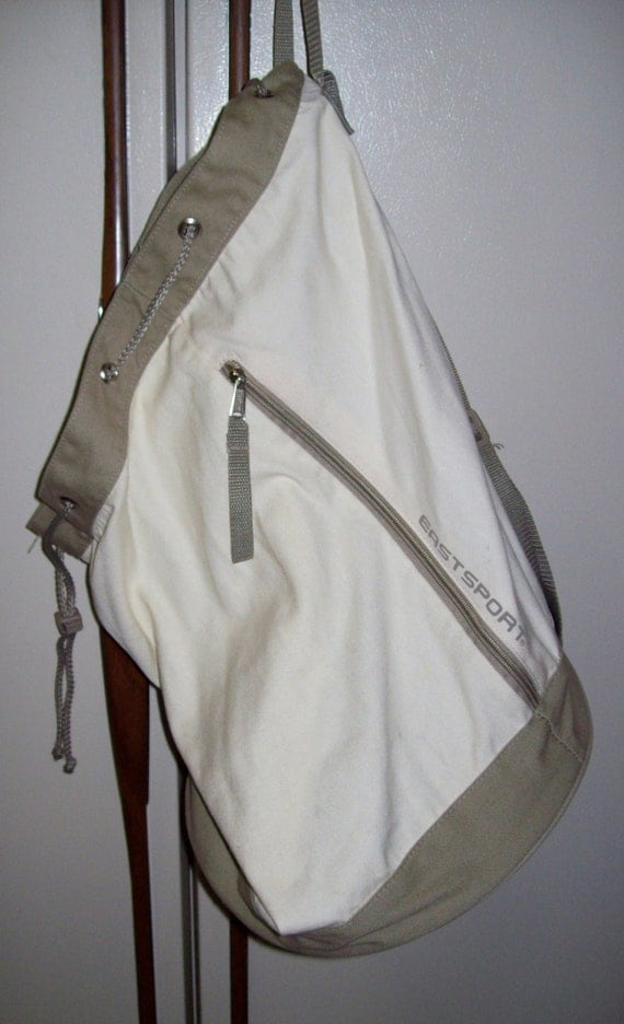 Vintage Eastport Canvas Laundry Bag Shoulder Strap Only 6 Usd