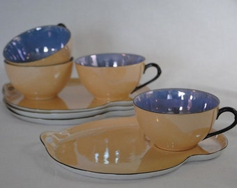 Luncheon Set Snack Pearl Luster Ware #1275 RW Germany Plate and Cup  Circa 20's
