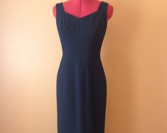 Liz Claiborne Black Dress 1990s S/M