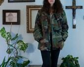 Vintage Camo Army Jacket