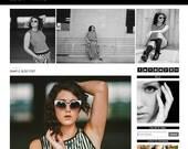 Premade Blogger Template - Black + White - Blog Template - Fashion Blog - #bloghappy #bloggertemplate