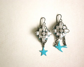 Star Bird Earrings by Nancelpancel on Etsy
