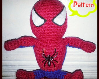 Free Amigurumi Spiderman Pattern : PATTERN: Crochet Calvin & Hobbes Hobbes Amigurumi