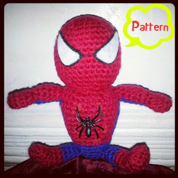PATTERN: Crochet Spiderman Amigurumi