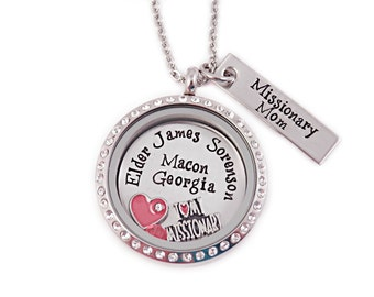 Personalized Missionary Mom Necklace - I Love My Missionary - Engraved - Missionary Necklace - LDS Jewelry - LDS Necklace - Mission - 1105
