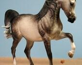 Bint Soraya UNPAINTED Resin Traditional Scale Arabian Horse Sculpture Figurine Kit Blank Unfinished Paint it Yourself Gift
