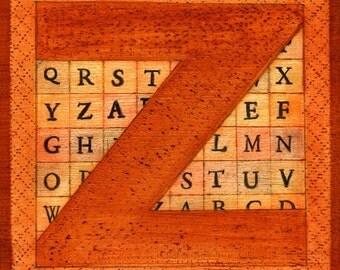 The Letter Z, print