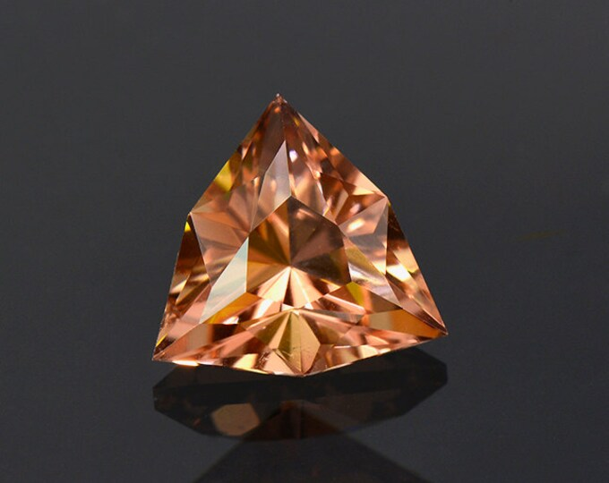 UPRISING SALE! Unique Peach Sorbet Colored Custom Faceted Tourmaline Gemstone from Nigeria 2.17 cts.