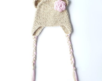 Baby Girl Hat CROCHET PATTERN Baby Boy Hat Bear Hat Baby Earflap Hat Crochet Ear Flap Hat Baby Ear Flap Hat Crochet Earflap Hat Pdf Pattern