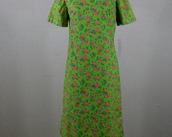 1960s Sweet Floral Sheath Dress, Handmade