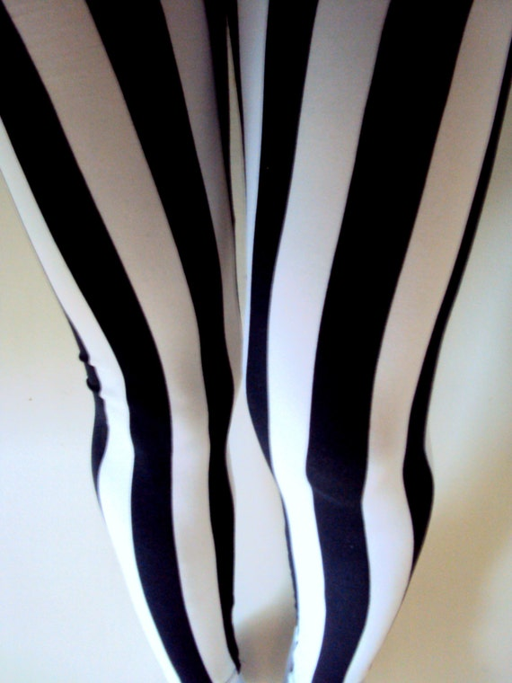 Vertical Stripe Women's Leggings Tights Yoga by GrahamsBazaar