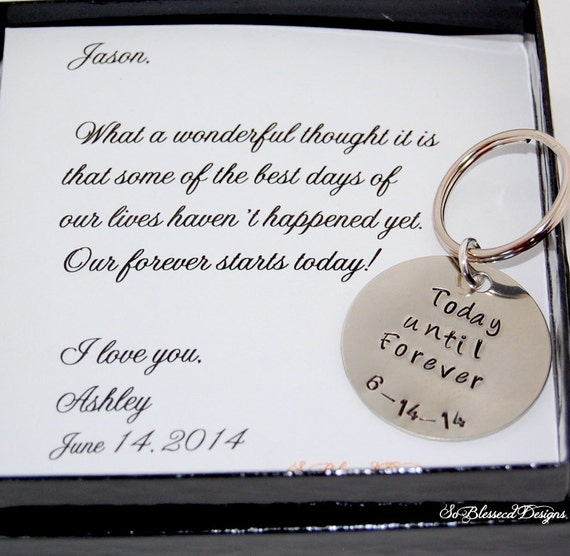 Wedding Day Gift For Bride From Groom : Groom gift from Bride, Bride to GROOM gift on wedding day, from Bride ...