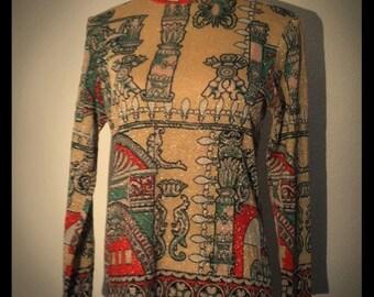 Vintage 60s  Avant Garde Novelty Sweater