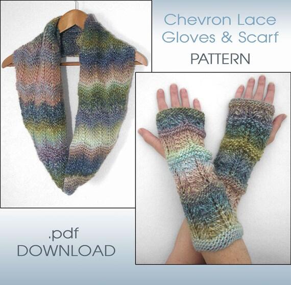 2-in-1 Knit PATTERN Infinity Scarf Knit PATTERN Fingerless