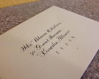 "Calligraphy Wedding envelope addressing Hand lettered Envelope Calligraphy Addressing ""Classic"""