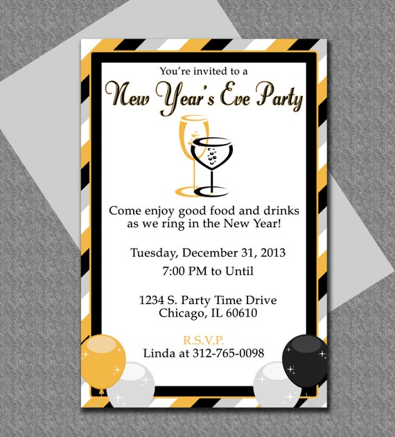 new years eve party invitation editable template. Black Bedroom Furniture Sets. Home Design Ideas