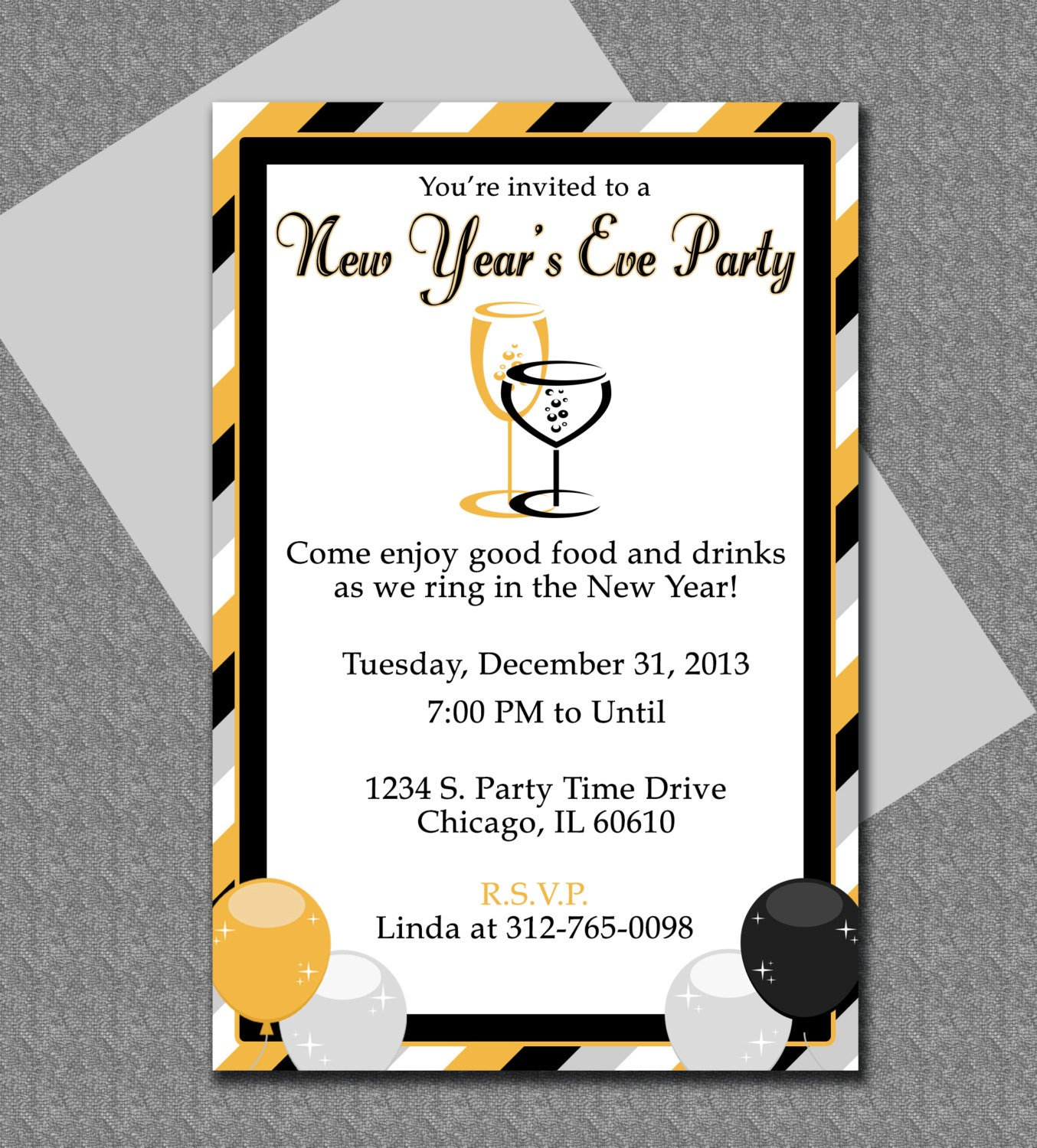 New years eve party invitation editable template for New year invite templates free