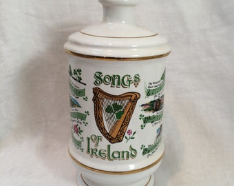 Porcelain Irish Songs// Songs of Ireland Decanter//Vase by  Old Fitzgerald Collector's Gallery