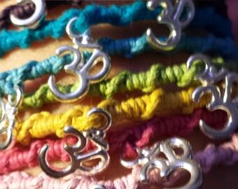 Om Meditation Hemp Bracelets/  Anklets