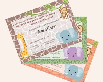 Safari Babyshower Invitation