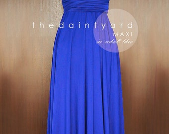 MAXI Cobalt Blue Bridesmaid Dress Convertible Dress Infinity Dress Multiway Dress Twist Dress Wrap Dress Prom Dress Long Dress Cocktail