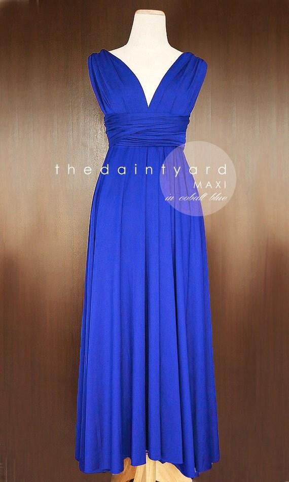 Blue Wrap Prom Dresses