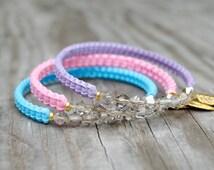 Helloberry Inspired Bangles, Beaded Bangles, Beaded Bracelet, Bangle Bracelet, Gimp Bracelet, Plastic Lacing
