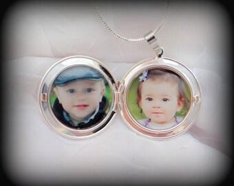 2 Photo Locket Necklace - Double Photos