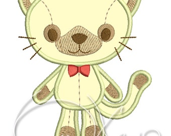 MACHINE Applique&Embroidery design - Kitten applique