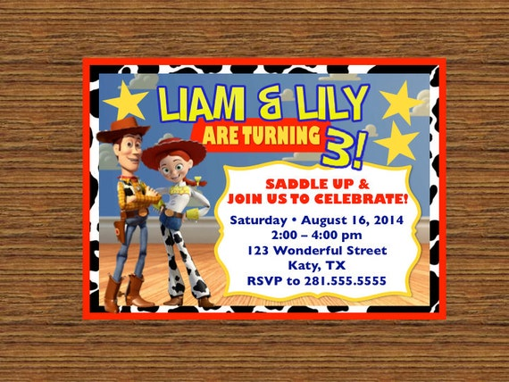 PRINTABLE Custom Invitation Toy Story Birthday Invitation