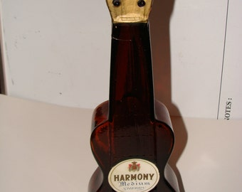 Vintage bottle Guitar Shaped bottle decanter Ed Delage Harmony Sherry Collectible bottle
