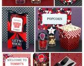 Rock Star Birthday - Rockstar Party - Rockstar Birthday Decorations - Rock Star Party Printables - Rock Party Decorations (Instant Download)