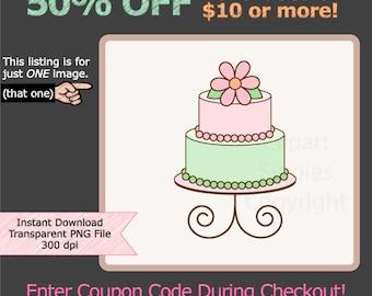 Cake Art Baner : Items similar to Sweet Pink Cake and Banner Birthday ...